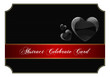Abstract black celebrate card