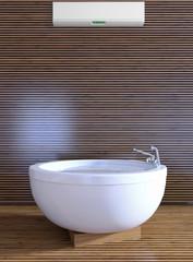 bathroom wit hair conditioner