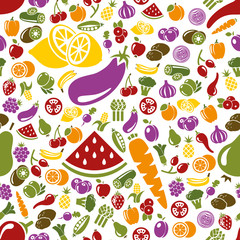 fruits and vegetable seamless pattern