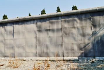 Berliner Mauer als Kulisse