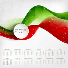2015 Calendar.  Vector illustration