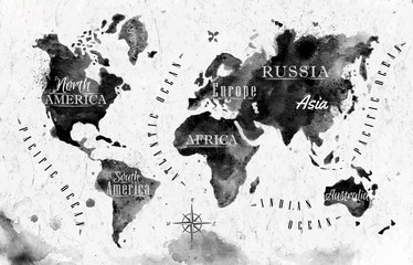 Ink world map