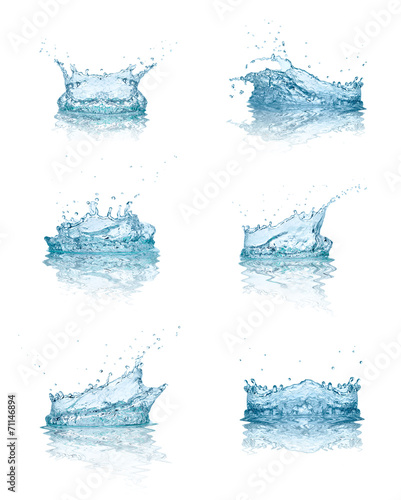 canvas print picture water splash drop blue liquid