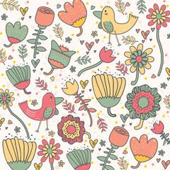 Garden inspired wallpaper design