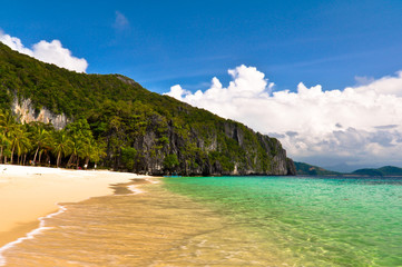 Tropical Beach in El Nido Islands in Philippines