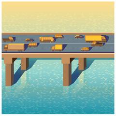 bridge with cars