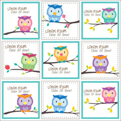 owl on trees layout design