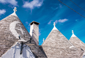 Unique quaint Alberobello - trulli village, Italy