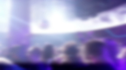 Abstract background of lights at a concert