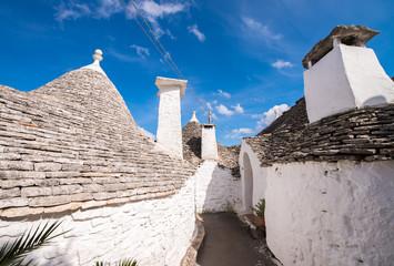 Unique quaint Alberobello - trulli village, Italy