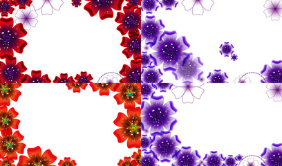 Set of Abstract flower background with place for your text.
