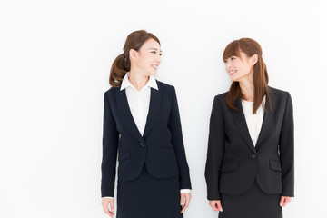 portrait of asian businesswomen on white background