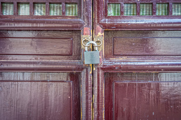 Conceptual image of locked door