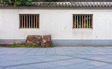 The concrete fence of antique Chinese building in China