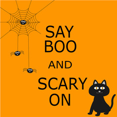 Say Boo and scary on for Halloween
