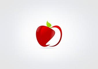 Aple Fruit Icon Healty symbol circle icon Herbal.zip