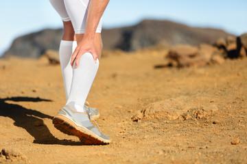 Running Cramps in leg calves sprain calf on runner