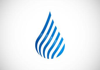water drop stripe line abstract vector logo