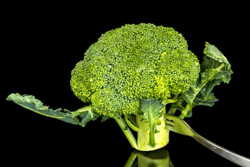 Broccoli standing on it end
