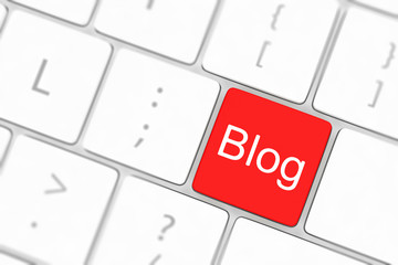 blog bloggar or inernet blogging concept with key
