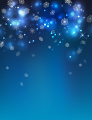 Vector Abstract Winter Night Background
