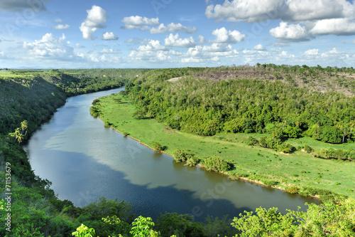 Tuinposter Centraal-Amerika Landen Chavon River, Dominican Republic