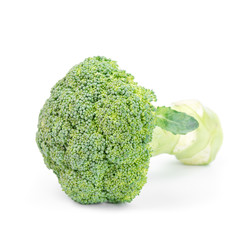 Fresh healthy broccoli on white background