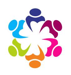Logo union business partners icon concept