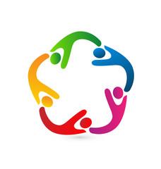 Logo business partners teamwork icon concept