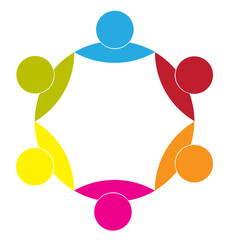 Logo business partners union icon concept