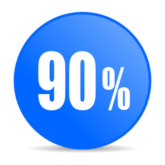 90 percent internet blue icon