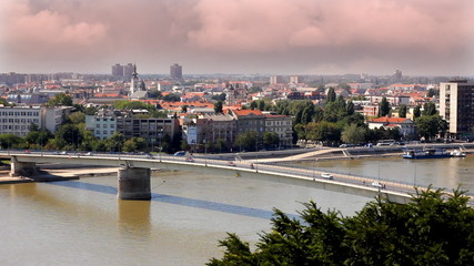 City of Novi Sad in Serbia, time lapse