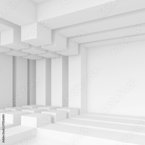 White Technology Background - 71156484