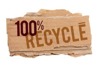 Morceau de carton - 100% recyclé
