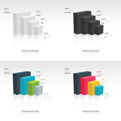 Vector for infographic or web design set