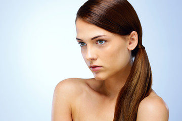 Portrait of a beautiful woman. Spa concept