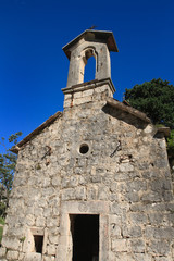 Old ruined church in Kotor fortress, Montenegro