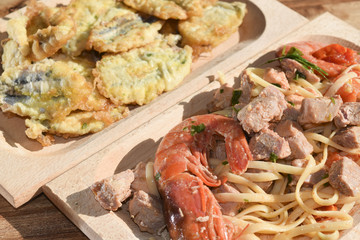 pasta fisherman style