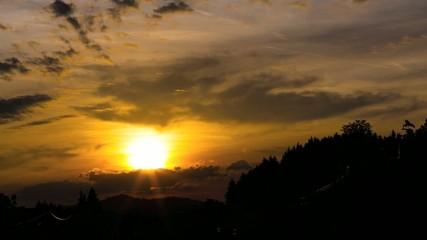Sonnenuntergang im Allgäu Zeitraffer