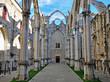 Ruins of Carmo church in Lisbon