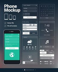 Phone user interface elements for website & apps