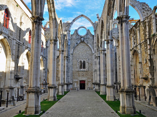 Ruins of Carmo church in Lisbon