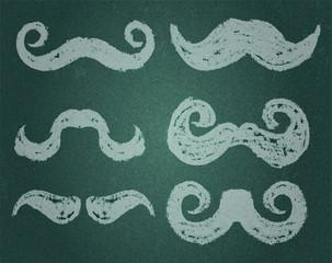 vector. Moustache Set
