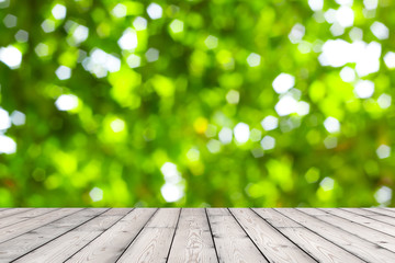 Wood texture and natural green background