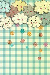 Funny winter clouds card