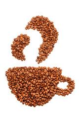 Kaffeetasse aus Kaffeebohnen