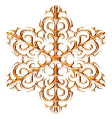 Gold snow flake Christmas.