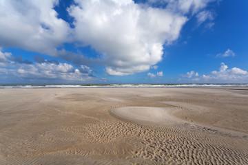 low tide on North sea coast