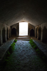 ancient stone tomb