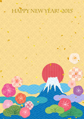 日本の文様 富士山 初日の出